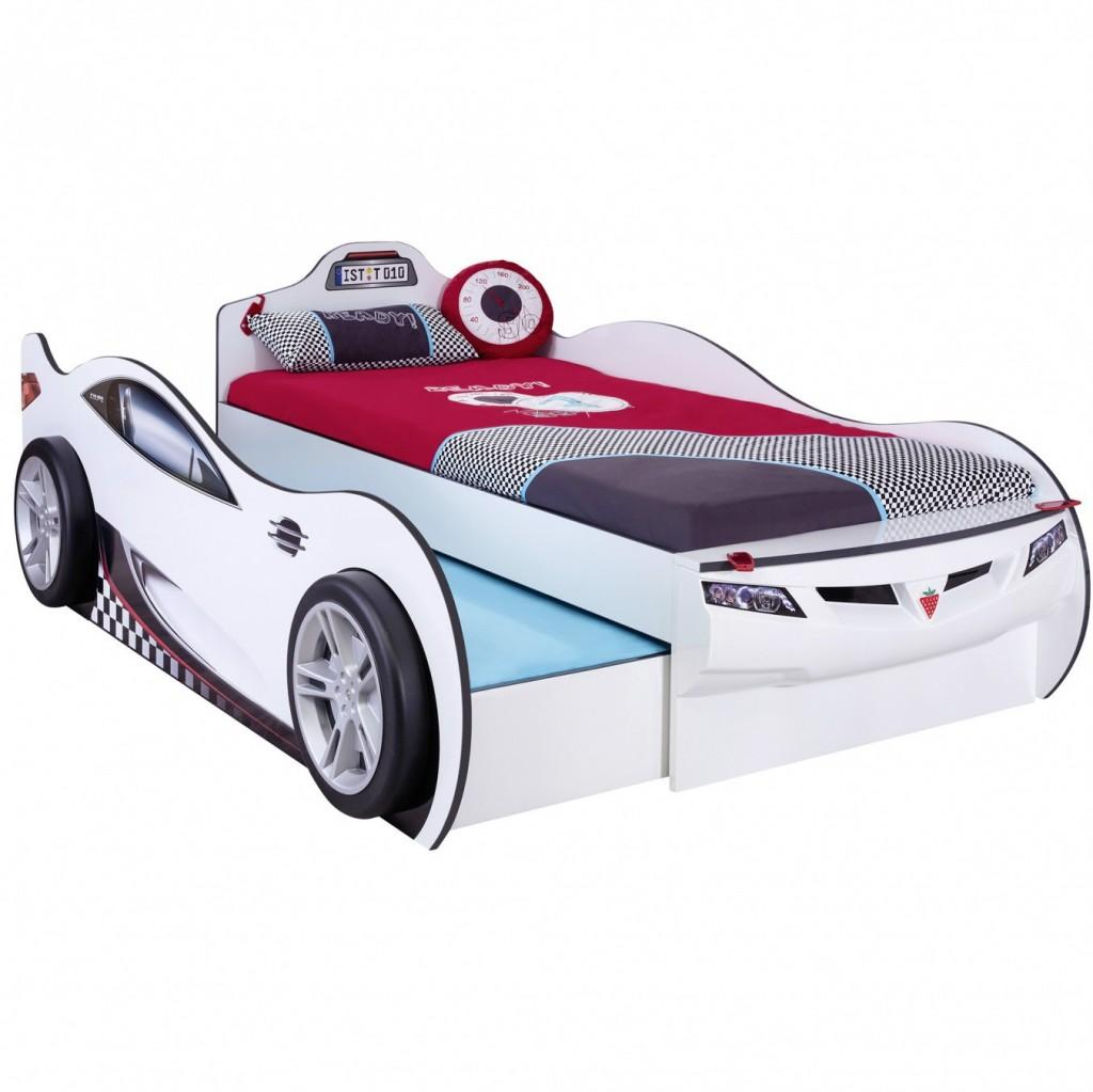Детская кровать машина Coupe Friend белая